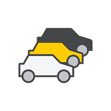 Three cars icon